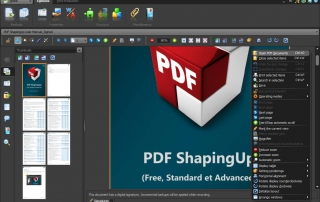 PDF editor [PDF ShapingUp main interface]
