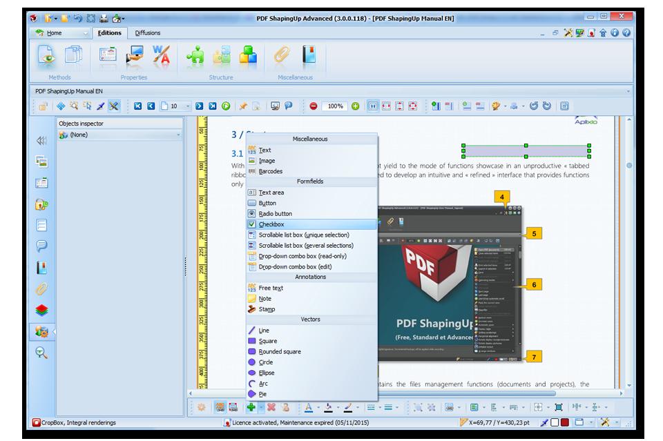 PDF ShapingUp, Free or Full Blown PDF Editor