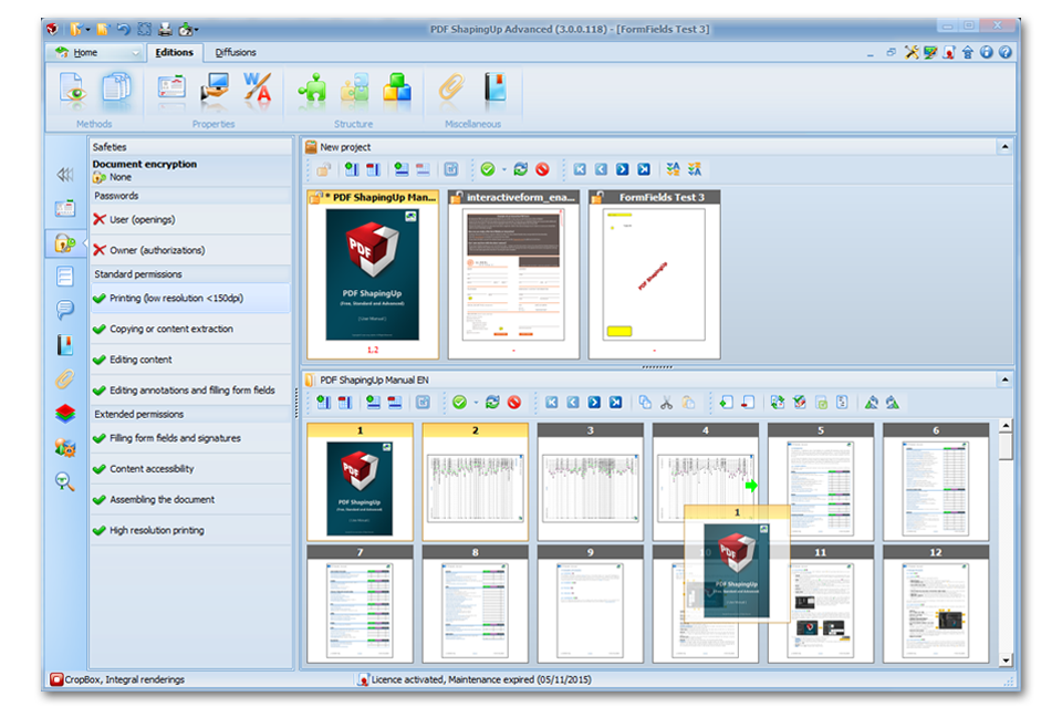 PDF editor [PDF ShapingUp Pages manager, Move]